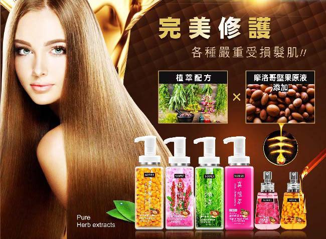 紅藜護髮油【SOFEI 舒妃】紅藜多酚護髮油3件組-紅藜絲亮修護菁油-活化防斷(70ml×3)